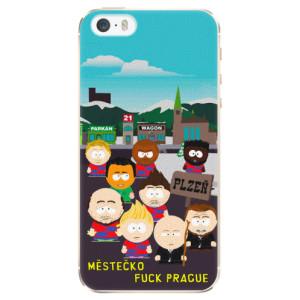 Plastové pouzdro iSaprio - Městečko Fuck Prague na mobil Apple iPhone 5 / 5S / SE