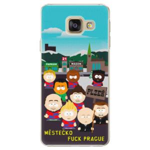 Plastové pouzdro iSaprio - Městečko Fuck Prague na mobil Samsung Galaxy A3 2016