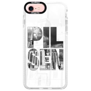 Silikonové pouzdro Bumper iSaprio - Pilsen Bartoloměj na mobil Apple iPhone 7