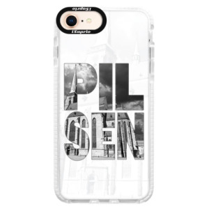 Silikonové pouzdro Bumper iSaprio - Pilsen Bartoloměj na mobil Apple iPhone 8
