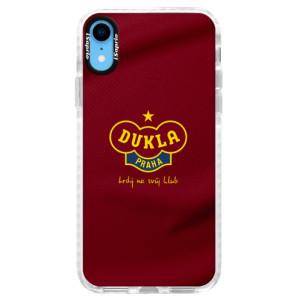 Silikonové pouzdro Bumper iSaprio - FK Dukla Praha na mobil Apple iPhone XR